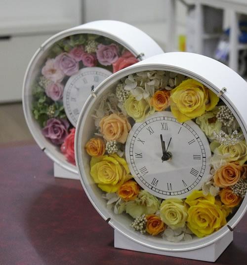 プリザーブドフラワー花時計教室